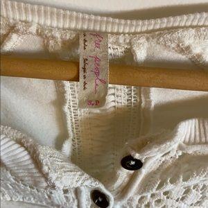 Free People Tops - Free People long sleeve crocheted shirt